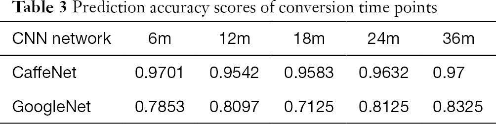 Discrimination and conversion prediction of mild cognitive